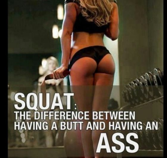 Fitness women squats quotes