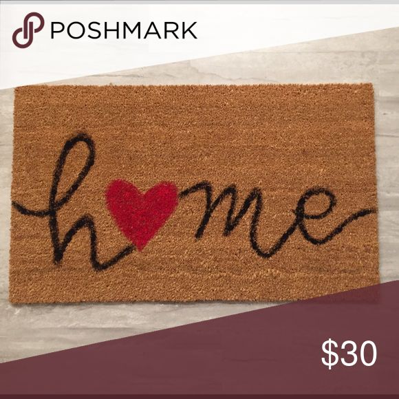 Hand painted coir doormat HOME, love, heart Specially made by me. Hand painted with acrylic paint. Durable coir doormat. Other