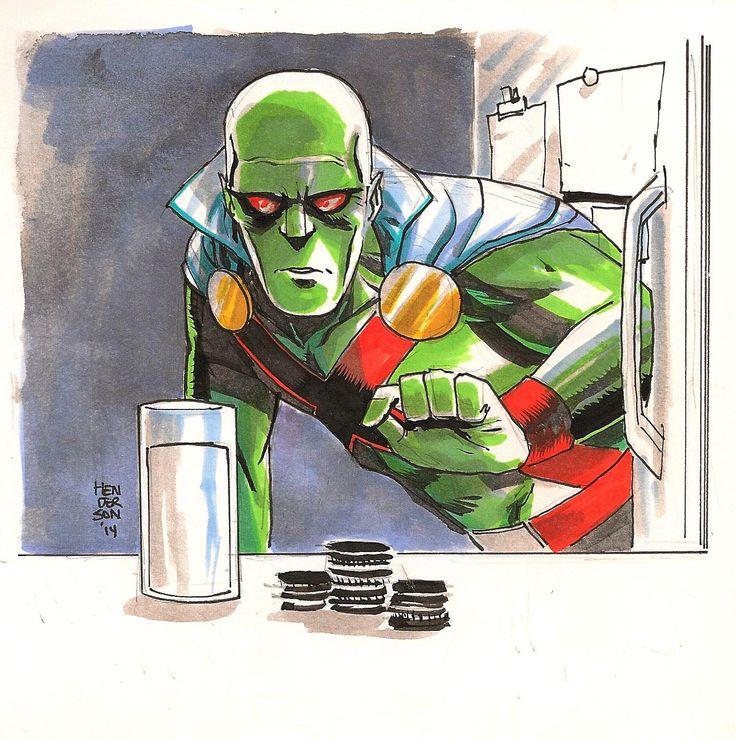Martian Manhunter by Mike Henderson