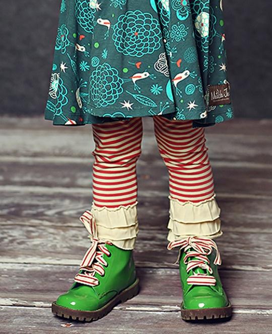 #matildajaneclothing  #MJCdreamcloset    Matilda Jane Clothing Cardinal Stripes Leggings