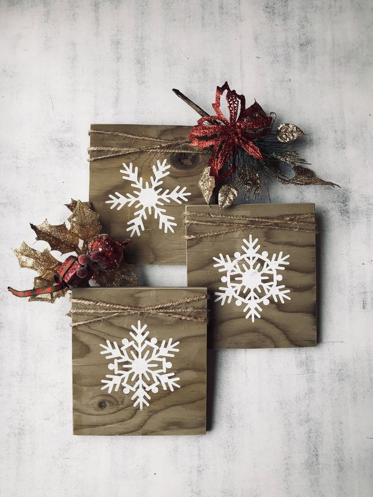 Rustic Personalised Christmas snowflake bottle tag-make that gift extra special!