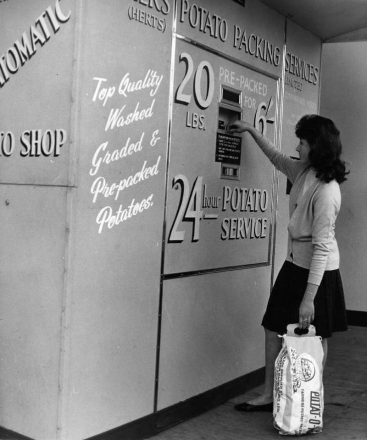 Vintage Potato Vending Machine