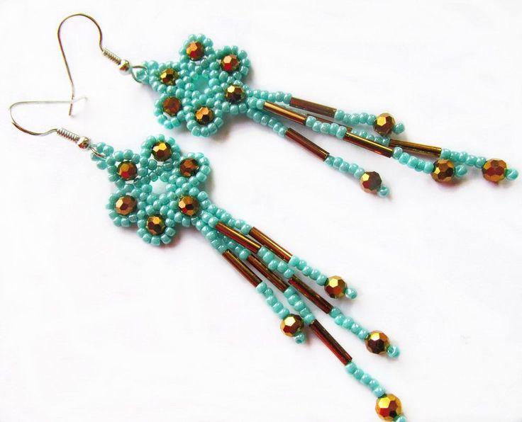 Free pattern for earrings Marcela