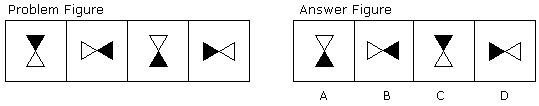 Which symbol in the answer figure completes the sequence in the Problem Figure?  #cogzidel #CogzidelJourney #aptitude #reasoning #NonVerbal #AbstractReasoning