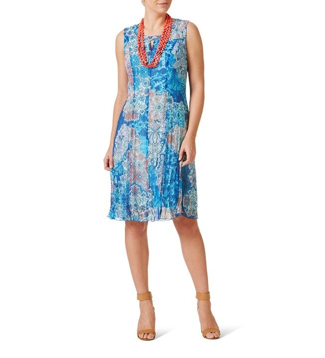 W.Lane Paisley Multi Colour Key Hole Dress
