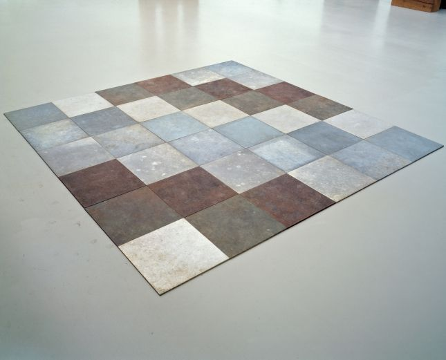 Textile Inspiration - Carl Andre, Weathering Piece, 1970  Courtesy of stichting kröller-müller museum