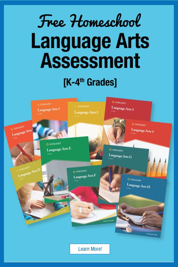 Homeschool Language Arts Assessment For K 4th Grades Free