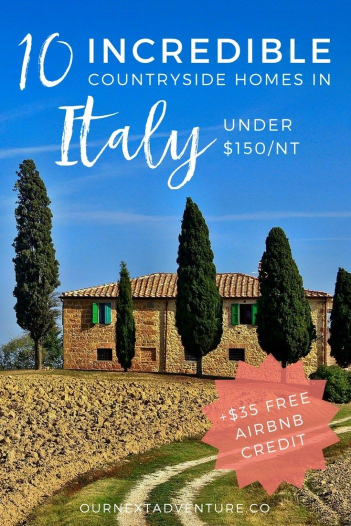 10 Incredible Homes In The Italian Countryside That Rent For Under 150 Per Night With Images Italy Countryside Italy Vacation Italy Travel