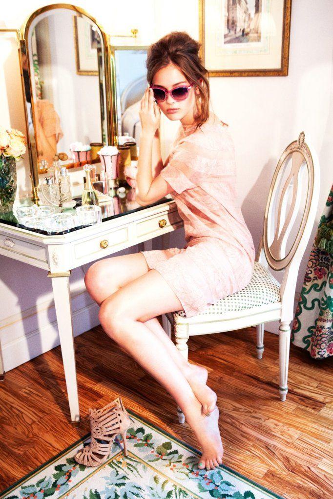 Monika Jac Jagaciak by Ellen von Unwerth for Dior Cruise 2012