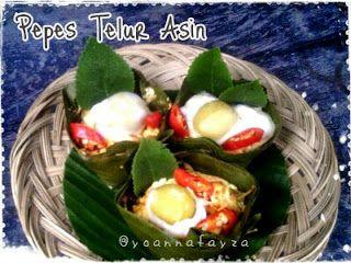 Resep cara membuat pepes telur http://resepjuna.blogspot.com/2016/06/resep-pepes-telur-asin-matang-juna.html masakan indonesia