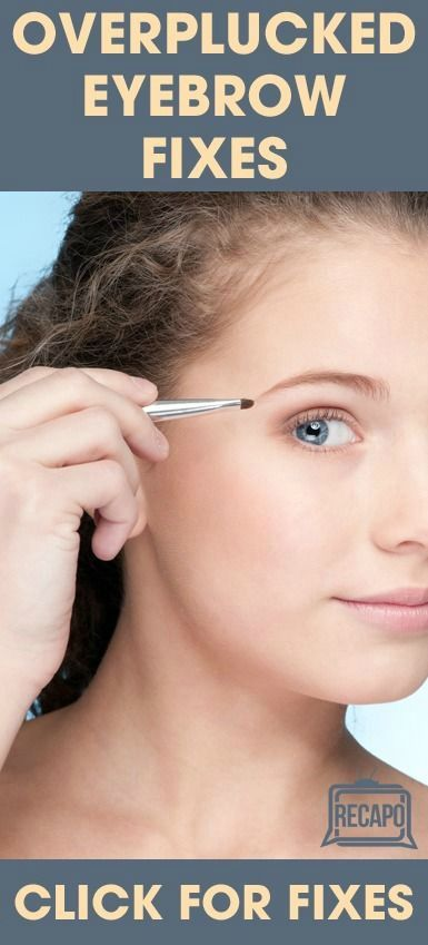 Plucking your eyebrows too often or for too long can actually cause damage to the hair follicle and stop growth. Check out these alternative eyebrow fixes for overplucked or no brows. http://www.recapo.com/the-doctors/the-doctors-beauty/the-drs-plucked-eyebrows-trichotillomania-microfollicular-grafting/