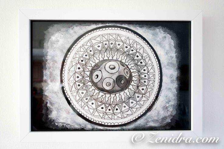 Original Handpan Mandala painting now for sale: http://zenidra.com/product/handpan-mandala/