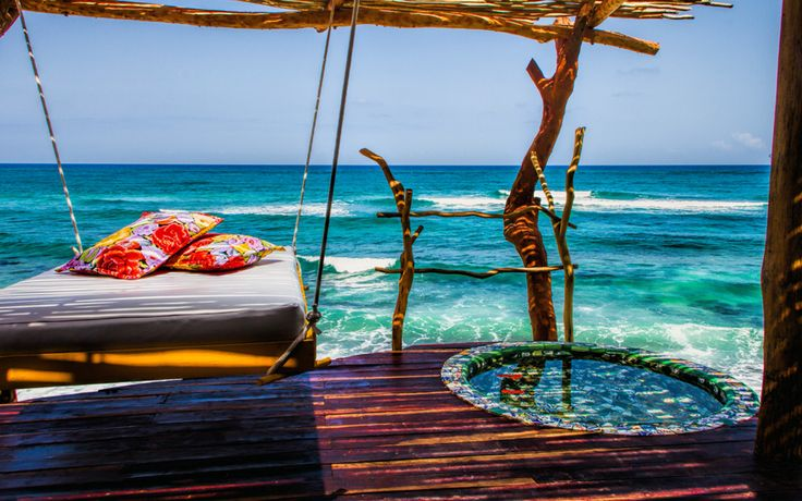 Azulik Resort, Tulum, Mexico, (on the eastern part of Yucatan Peninsula on the Riviera Maya).