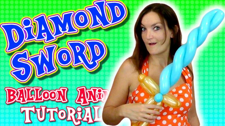 Diamond Sword easy Balloon tutorial with Holly the Twister Sister!