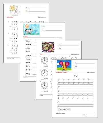 Worksheets - Educational Worksheets for Children this is a educational worksheet generator. Helps teachers make a printable worksheet if their own. The teachers can make worksheets based on the lesson topic the are currently teaching.