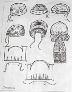 повойник выкройка - Поиск в Google (Interesting pattern drafts on these povoiniki)