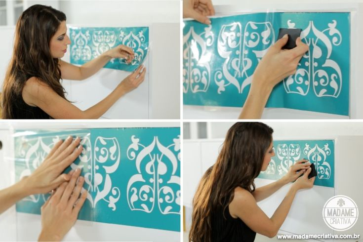 DIY - How to remodel furniture using vinyl and a Silhouette cutting machine