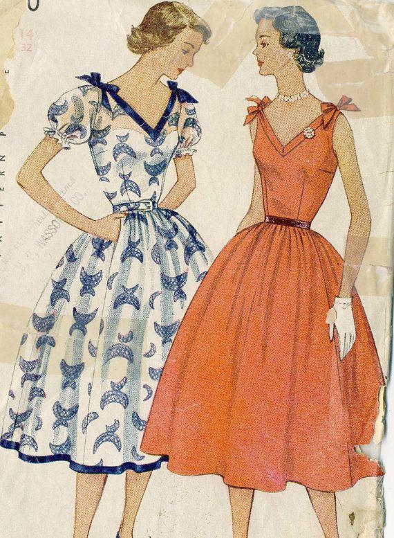 Vintage 50s Simplicity 3890 Misses Lovely By RomasMaison On Etsy Sun Dress PatternsFabric