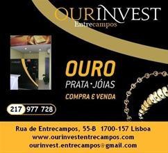 Ourinvest Entrecampos Lisboa. Compro ouro, prata, libras, fios, pulseiras, anéis, gargantilhas. OURINVEST Entrecampos