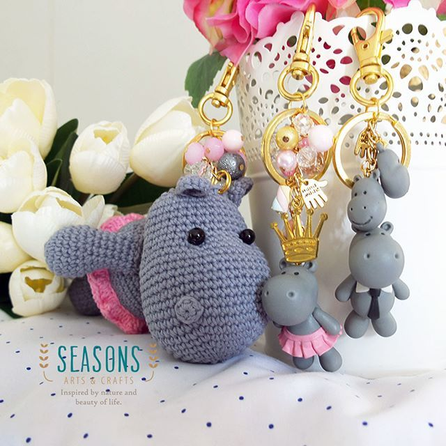 Special #handmade collections for #hippolovers  From #amigurumi to #couplekeychain  It's all about #hippo  #madewithlove…