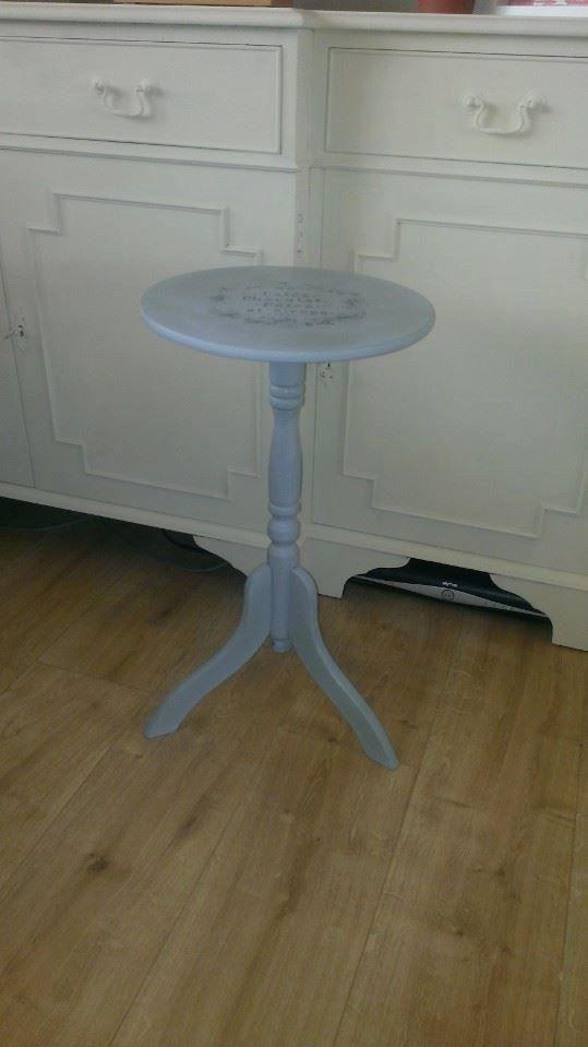French Vintage tripod side table. by LittleTreatsGiftShop on Etsy