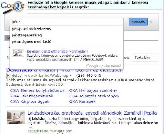 Keresett már valamit a Google keresővel? Biztos... [Pepita Hirdető]