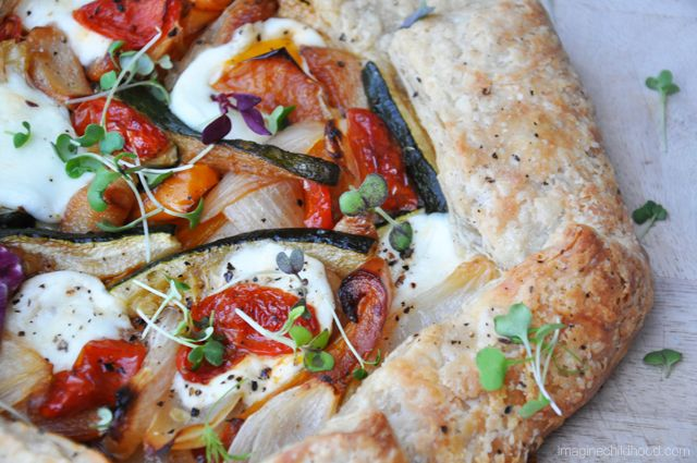 Spring Vegetable Tart with Mozzarella di Bufala