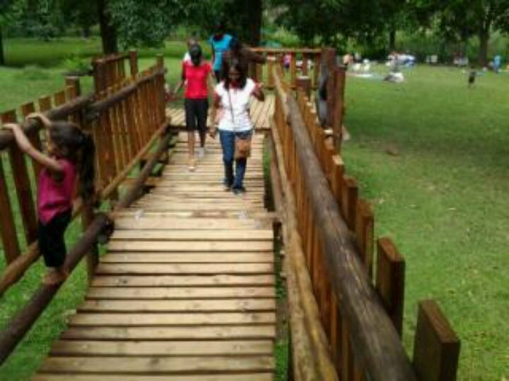 The jungle gym walkway