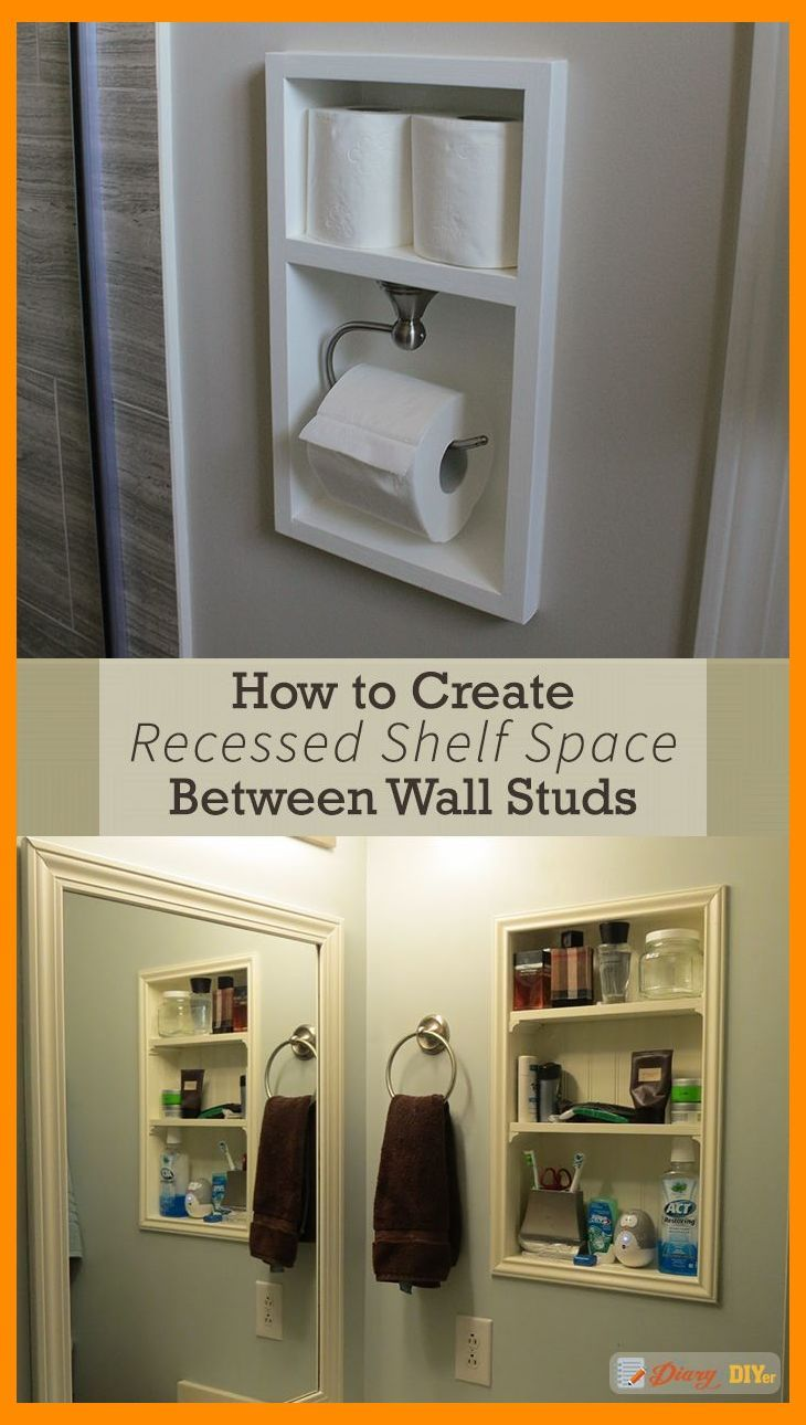 Recessed Shelving Between Studs Is A Quick And Relatively Easy Way