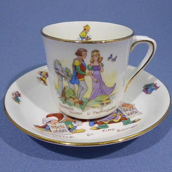 Hammersley Princess Glory and Prince David Child's Cup and