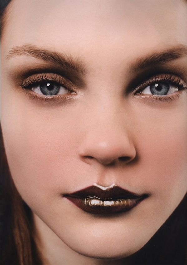 Vampy fall lips inspiration This eye would look beautiful with a natural darker pink color too, the vampy lips just aren't for me.