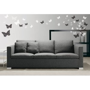 Vinyl Wall Art Decal Sticker Butterfly Flower Floral: Grey Couch, Wall Art, Vinyls Wall, Living Room, Butterflies Flower, Wall Decal, Art Decals, Wall Stickers, Studios Couch