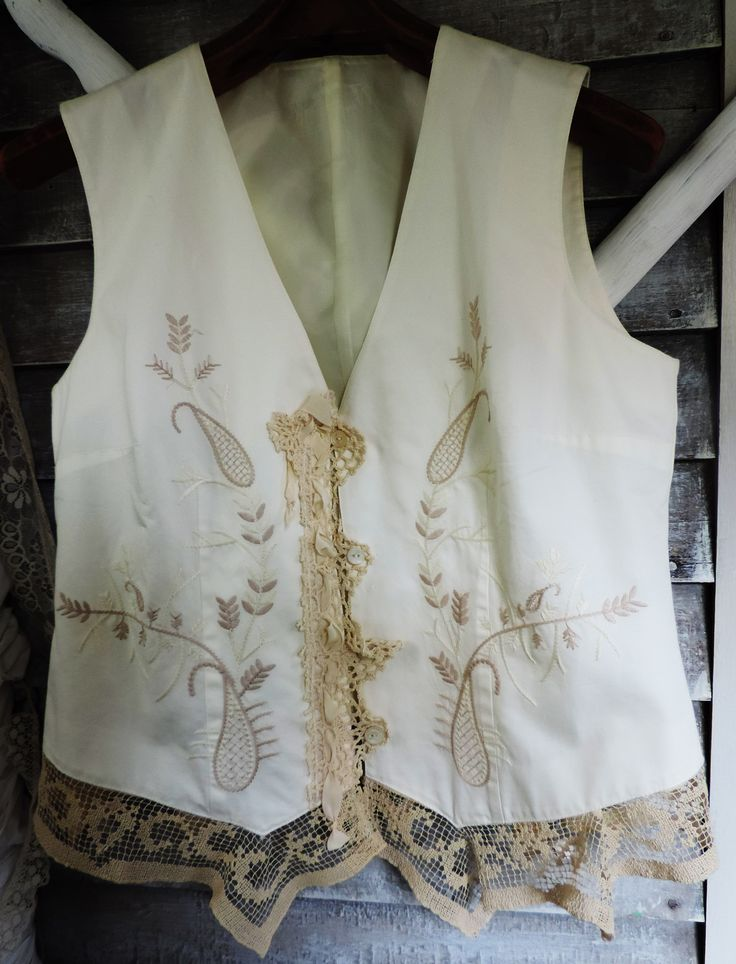 Recycling antique laces and linens for the environment http://www.victoriantailor.com/#!gypsy-bohemian-lace-clothing/c1hpk