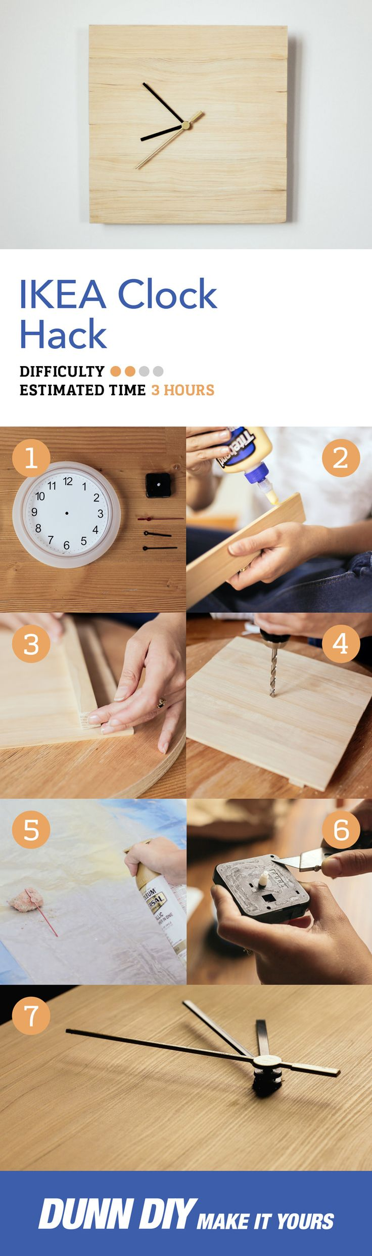 Are you a minimalist on a budget? We've crafted this sleek time keeping piece just for you. Check out our diy ikea clock hack!