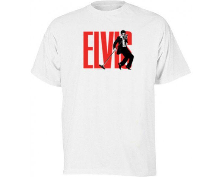 Elvis Presley Rock n Roll White Music Tshirt-250