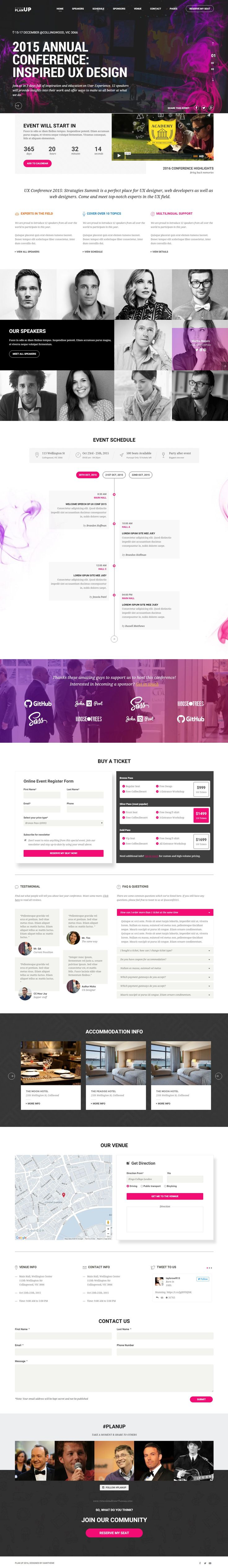 Planning to launch a #website for your upcoming event? Here is the perfect theme for you. PlanUp Event Booking WordPress Theme designed for conferences, events, exhibitions, meetups, congresses and other important #events will let you establish a stunning site with a hassle free.