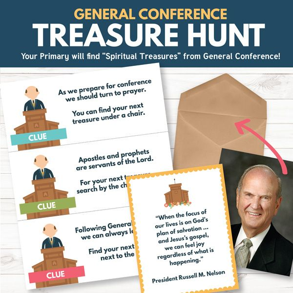 LDS General Conference Treasure Hunt - Primary Sharing Time Idea