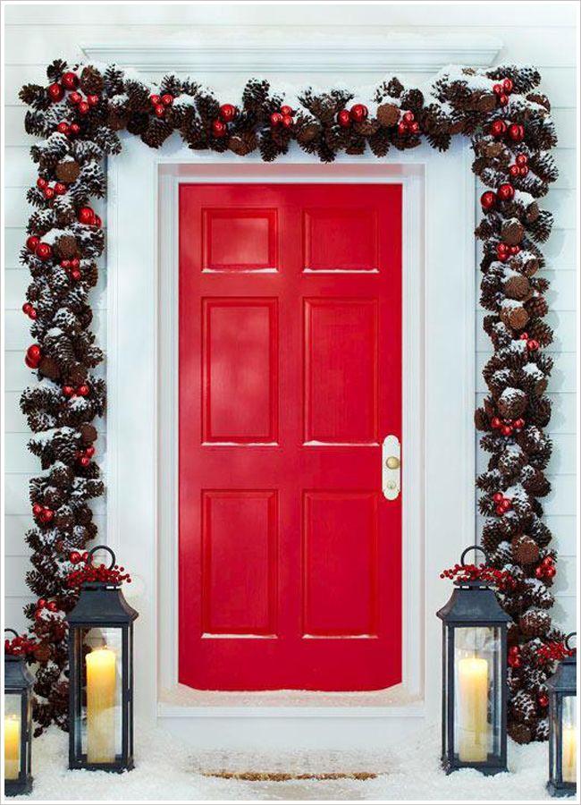 53 best puertas y ventanas en navidad images on Pinterest Windows