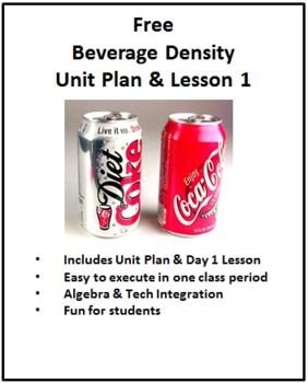 Food Chemistry: Beverage Density Unit Plan and Day 1 Lab (for high school) how fun it would be to teach chemistry through FOOD! cool idea :) FREE
