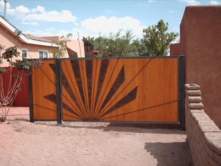Wood and metal main gate ideas pinterest metals the for Wooden main gate design