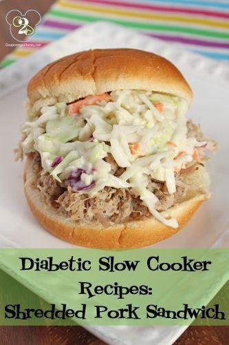 Diabetic Slow Cooker Recipes Shredded Pork Sandwich