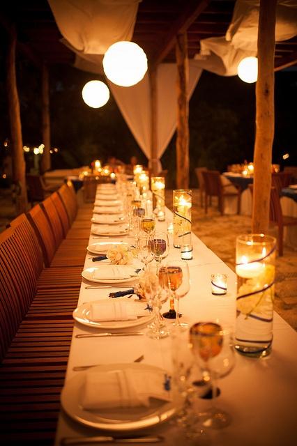 Beach Wedding Head Table Decorations Photograph | Table Decor