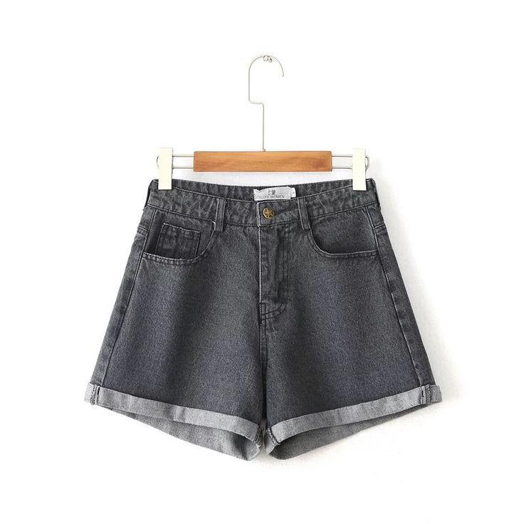 Купить товарBC35 8238 мода стиль высокая талия керлинг свободные джинсовые шорты 0212 в категории Джинсына AliExpress. BC35-8238 мода стиль высокая талия керлинг свободные джинсовые шорты 0212