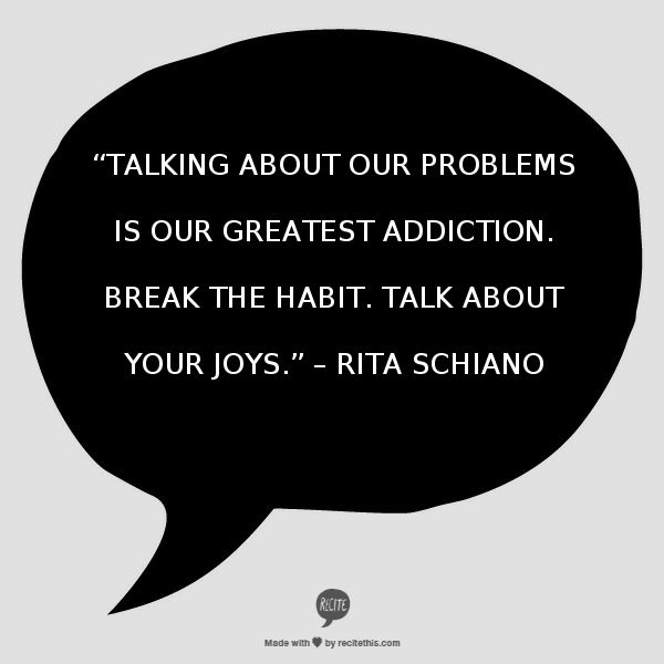 talking about our problems