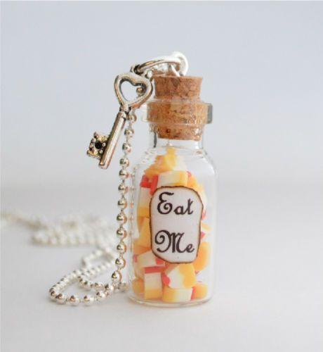 Se-me-comen-Botella-De-Vidrio-Collar-Colgante-Alice-In-Wonderland-inspirado-Cuento-De-Hadas