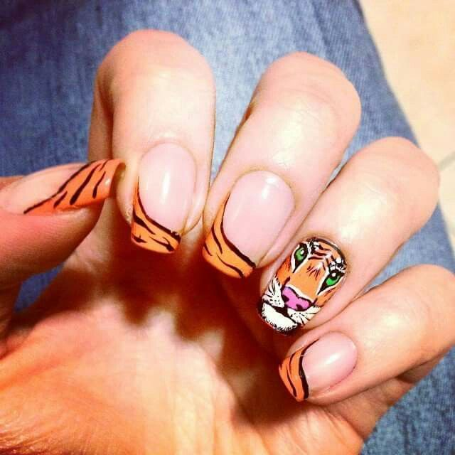 48 best nails images on pinterest tiger nails tiger nail art nails prinsesfo Images
