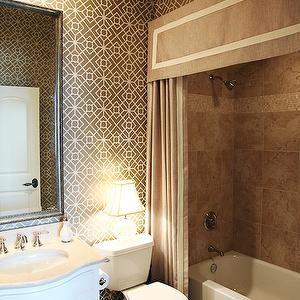 Shower Curtain Valance, Contemporary, bathroom, EJ Interiors