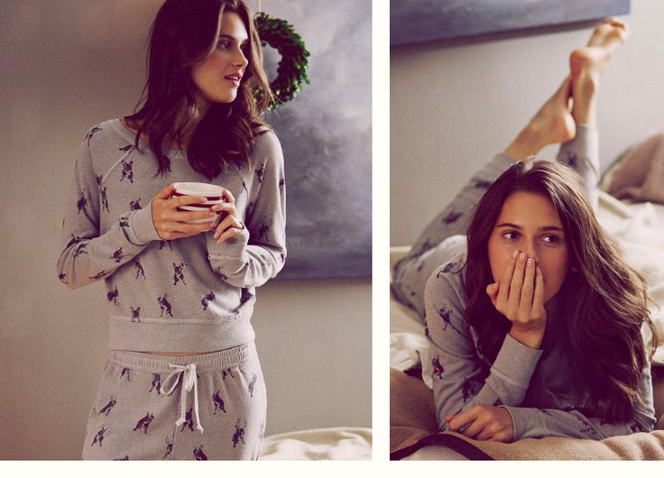 Womens Supersoft & Cozy French Bulldog jammies | Abercrombie.com