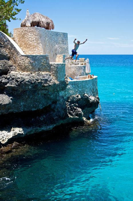 Negril, Jamaica - cliff jumping - okay, I didn't do this, but was good to know I could have