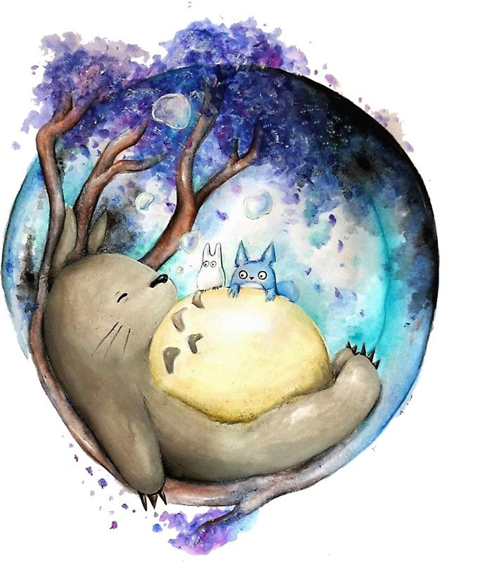 totoro sleeping by madeleinekdewbe